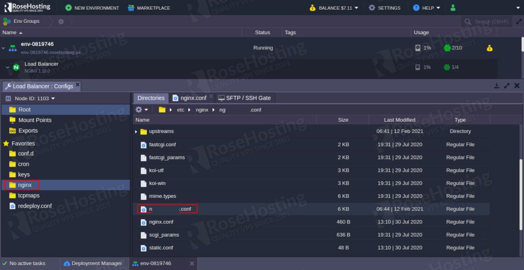 enable modsecurity web application firewall inside nginx server on the rosehosting cloud platform tutorial
