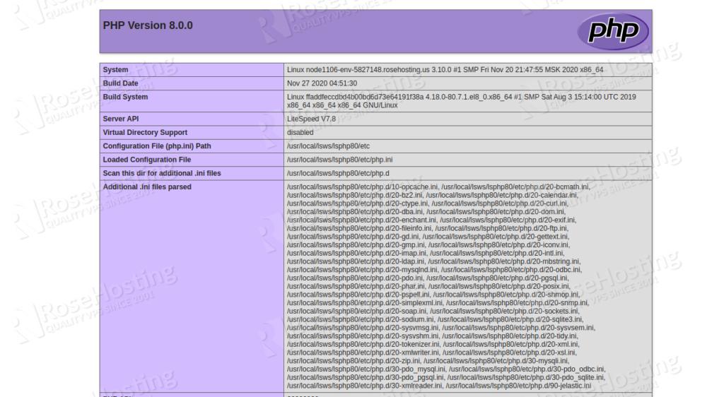 set up litespeed server for highly loaded php applications