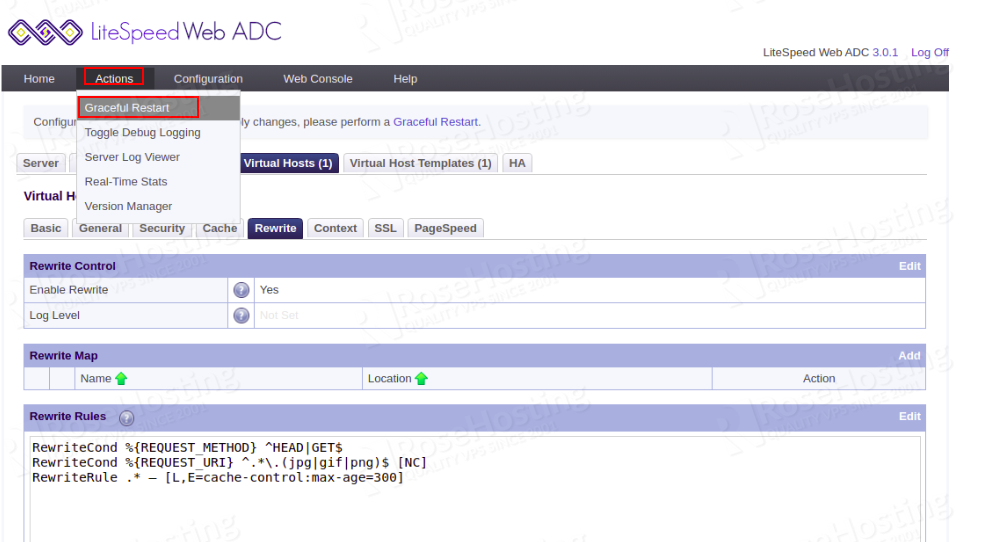 dynamic and static cache in litespeed web adc
