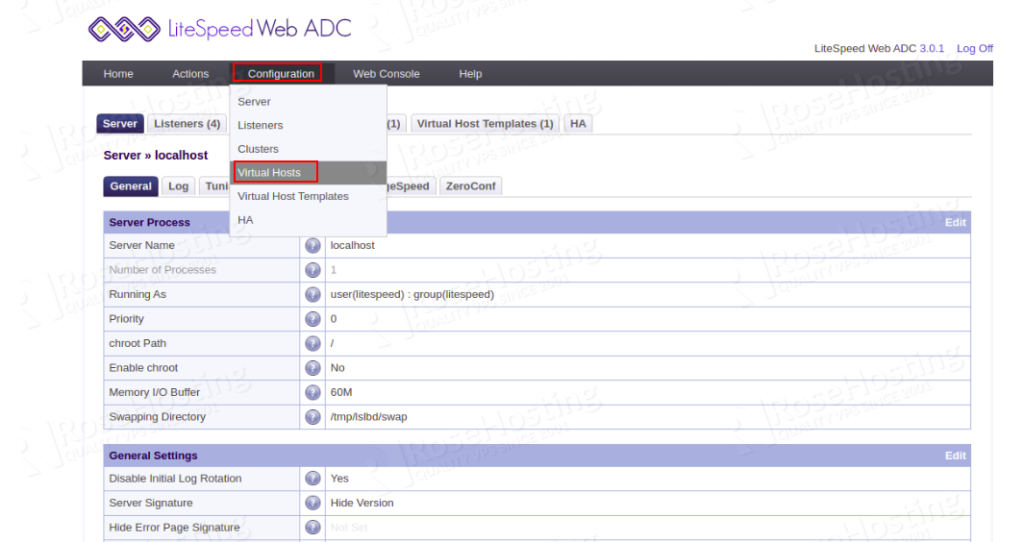 how to set up load balancing with litespeed web adc