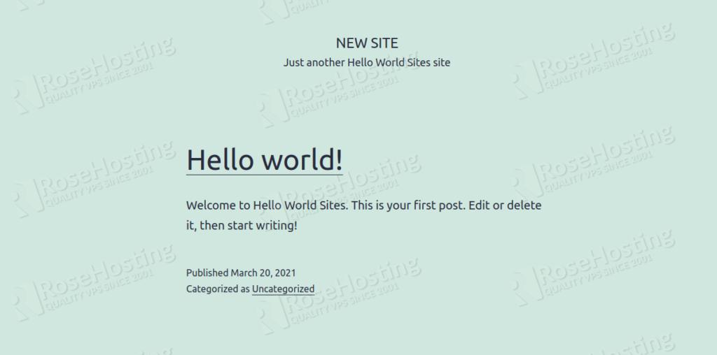 multisite wordpress installation cluster auto