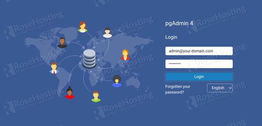 set up pgAdmin 4 on Debian 10
