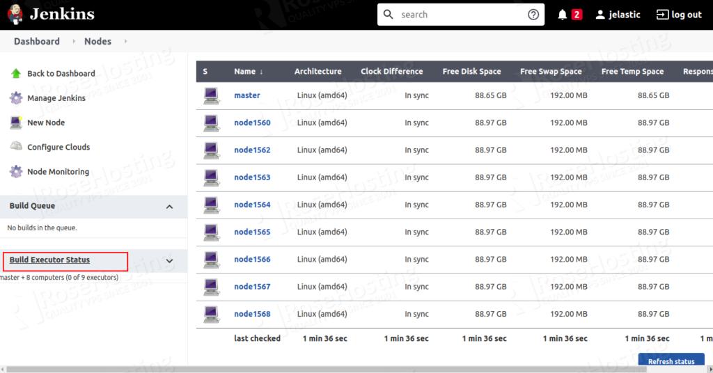 jenkines cluster hosting for cd/ci