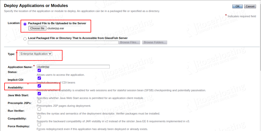 configuring glassfish cluster using automatic load balancing