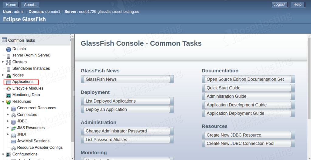 installing glassfish cluster with automatic load balancing