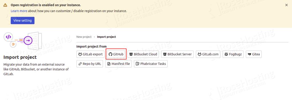 install devops gitlab server on rh cloud hosting