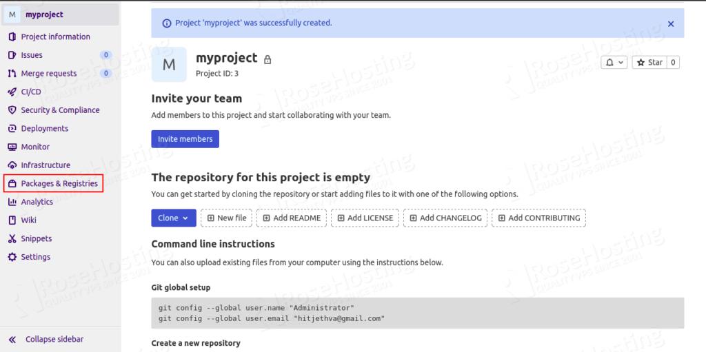 installation of devops gitlab server on cloud platform