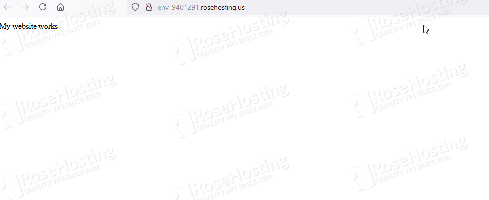 apache and php installation on rosehosting cloud paas