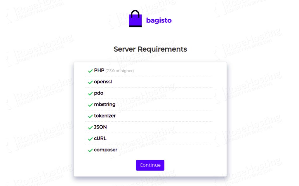 install bagisto ecommerce platform on ubuntu 20.04