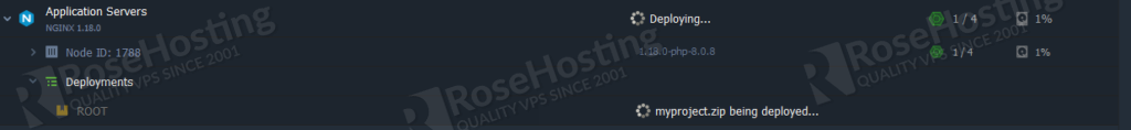 rosehosting paas installation of php and nginx