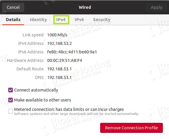 how to configure and set up a static ip address on ubuntu 20.04