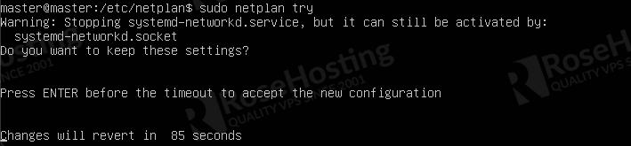 set up and configure static up address on ubuntu 20.04